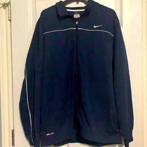 Nike Men's Navy Blue Zip Up Dri-Fit Jacket - XXL